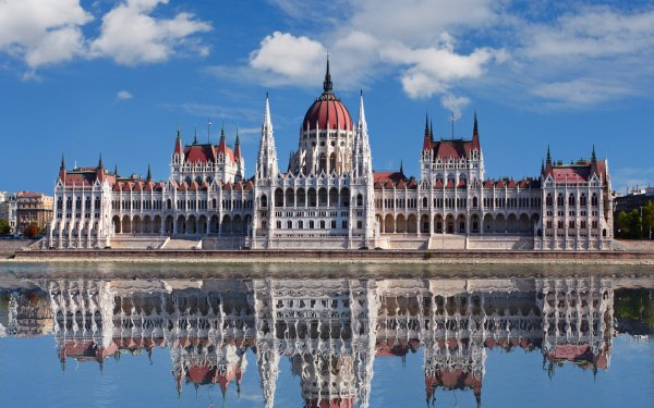 Man Made Hungarian Parliament Building Monuments Budapest Hungary HD Wallpaper   Background Image