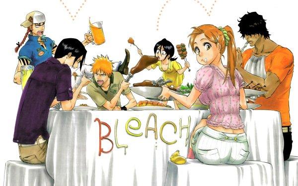 Anime Bleach Ichigo Kurosaki Renji Abarai Uryu Ishida Rukia Kuchiki Orihime Inoue Yasutora Sado Fondo de pantalla HD | Fondo de Escritorio