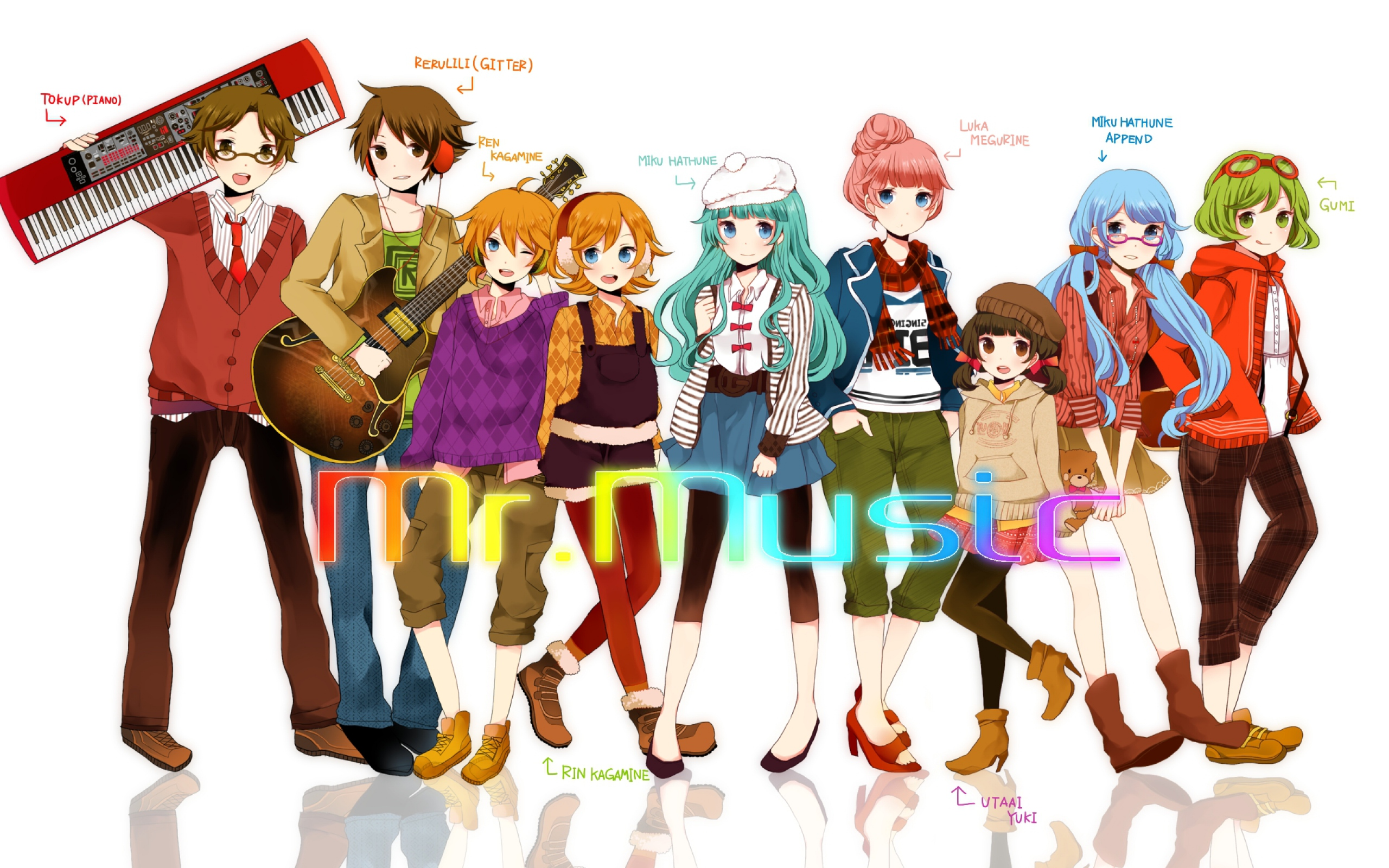 Anime - Vocaloid  - Anime Girl - Anime Girls - Girl - Girls - Anime - Musica Papel de Parede