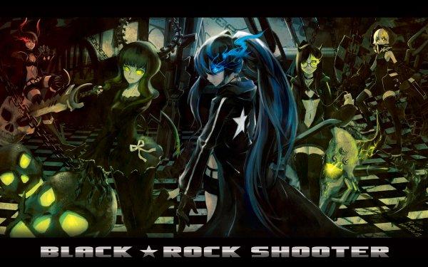 Anime Black Rock Shooter Dead Master Strength Black Gold Saw HD Wallpaper | Background Image