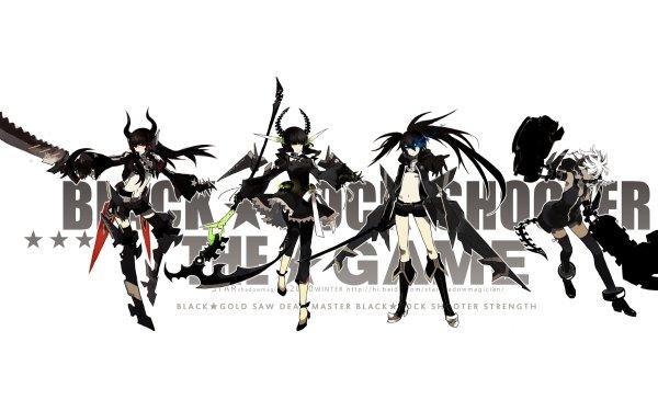 Anime Black Rock Shooter Strength Black Gold Saw Dead Master HD Wallpaper | Background Image
