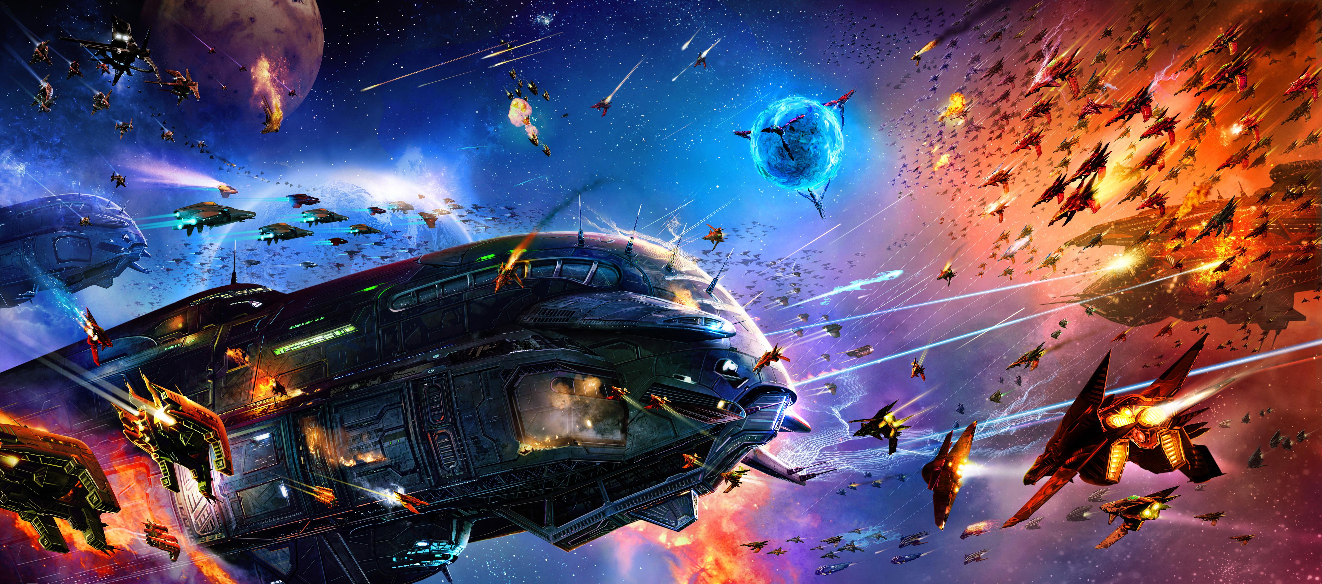 Battle 4k ultra hd wallpaper background image - Spaceship wallpaper 4k ...