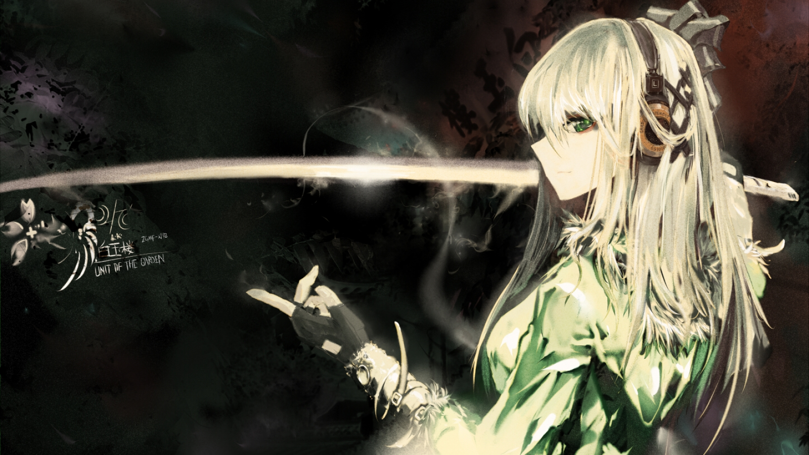 Unit of the garden wallpaper and background image - Girl with sword wallpaper ...