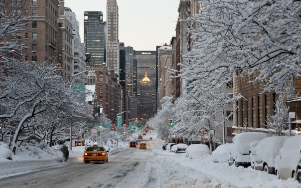 Photography Winter City Snow Place Holiday HD Wallpaper | Background Image