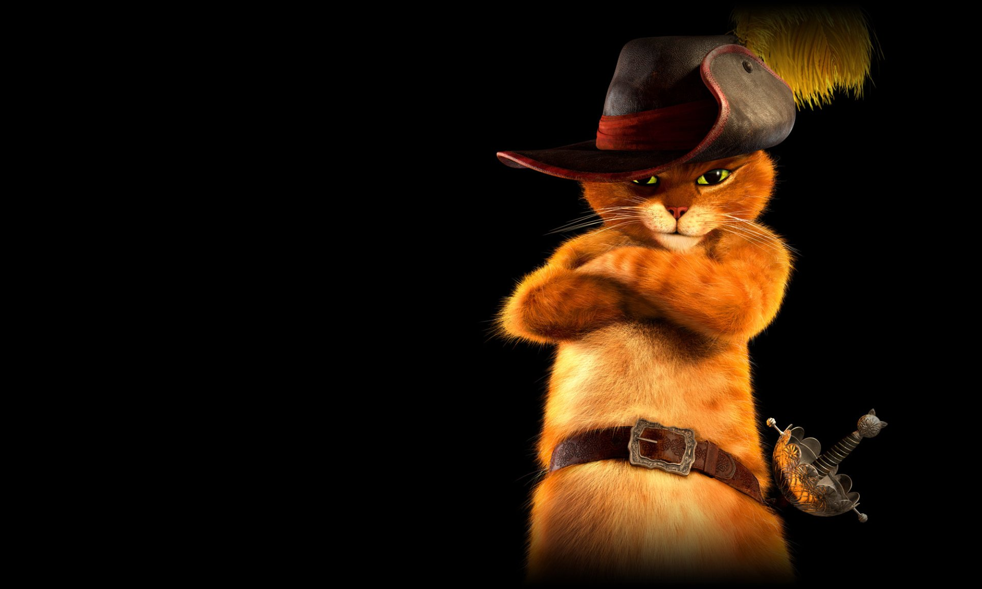 Movie - Puss In Boots  Cat Hat Wallpaper