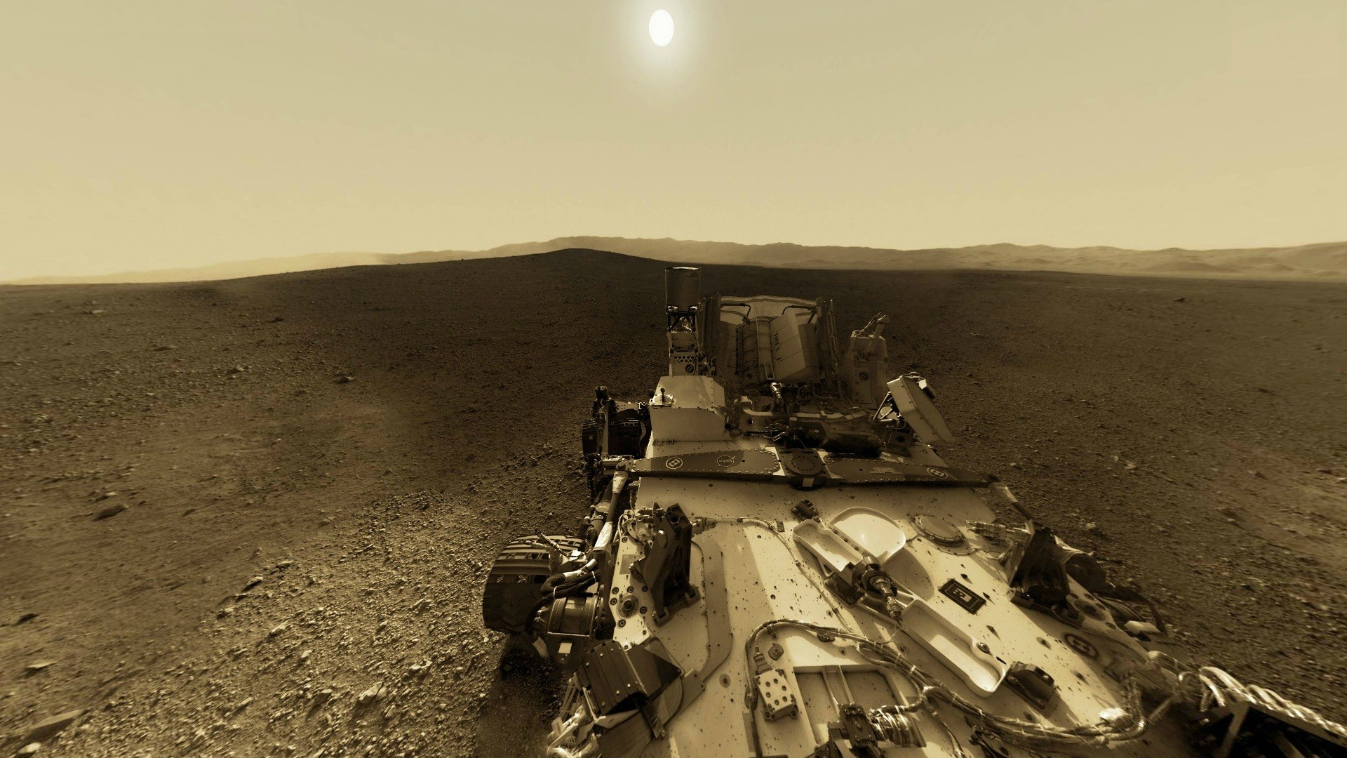 curiosity rover on mars background - photo #13
