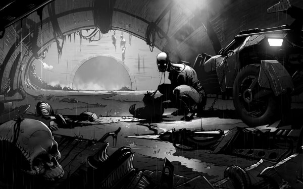 Video Game Metro 2033 Metro Dark Robot Creepy Horror Skull HD Wallpaper | Background Image