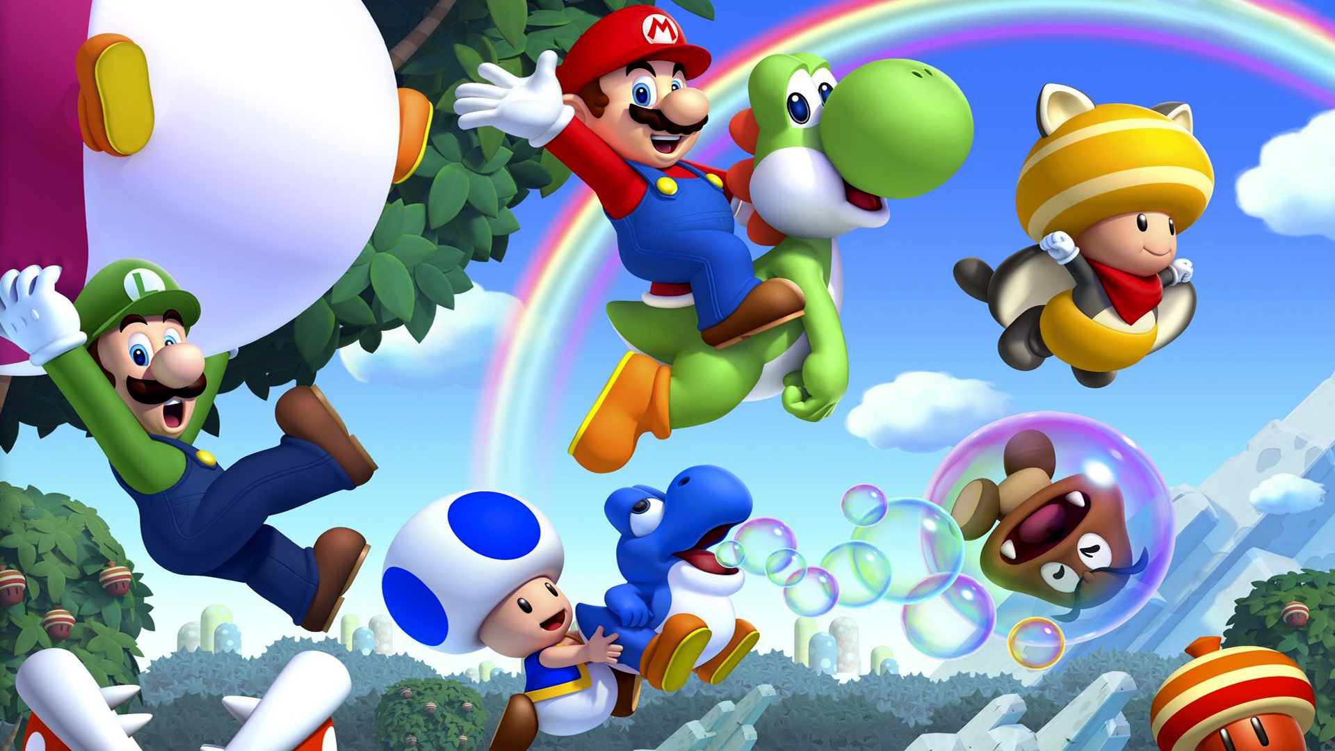 super mario bros. full hd wallpaper and background | 1920x1080