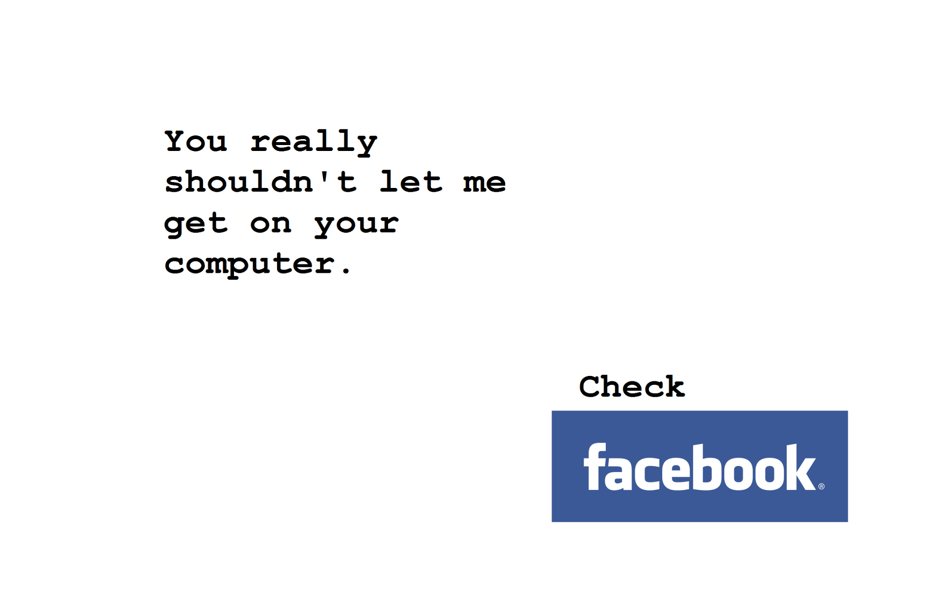 Humor - Computer  Facebook Wallpaper
