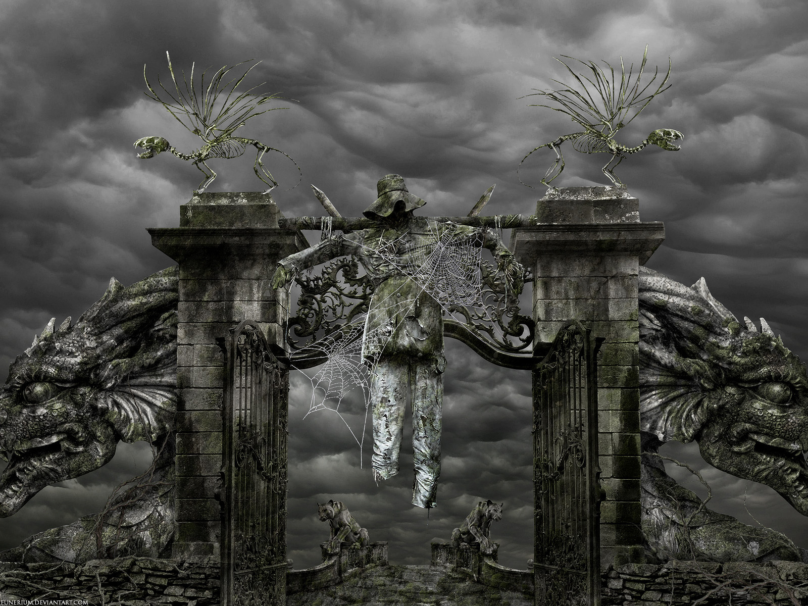 evil landscape background - photo #33