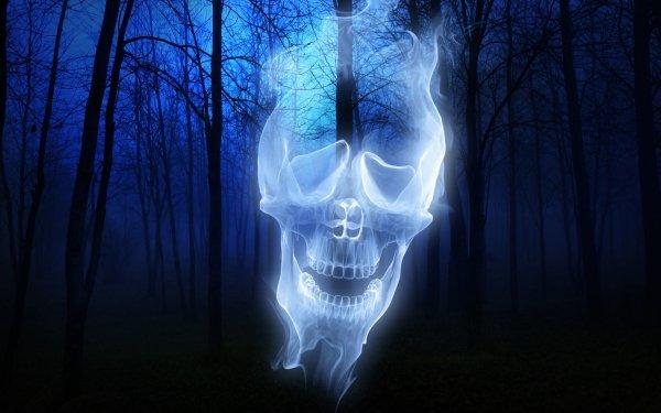Día festivo Halloween Spooky Bosque Ghost Fondo de pantalla HD | Fondo de Escritorio