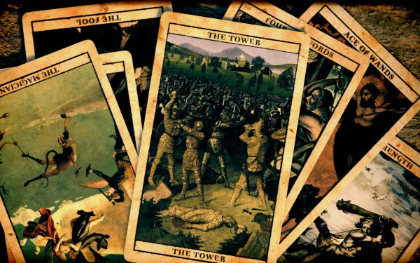 Dark Occult Tarot Tarot Cards Witch Witchcraft HD Wallpaper | Background Image