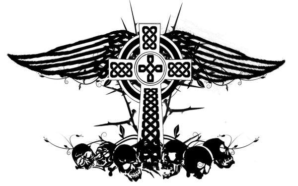 Dark Occult Celtic Celt Skull HD Wallpaper | Background Image