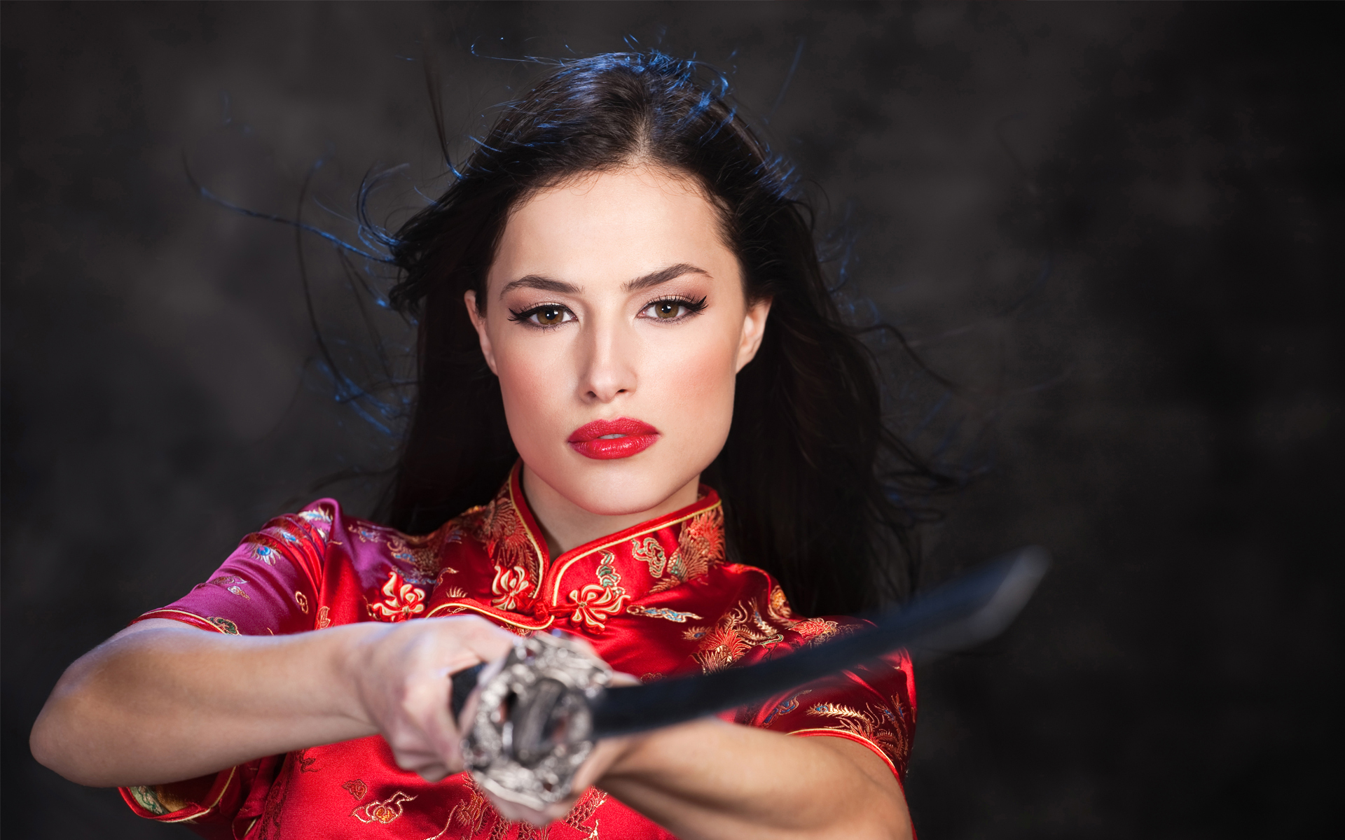 Asian hd wallpaper background image 1920x1200 id - Girl with sword wallpaper ...