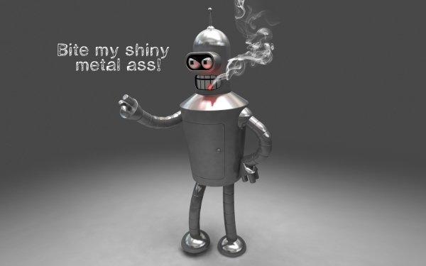 TV Show Futurama Bender Silver Cartoon Robot HD Wallpaper   Background Image