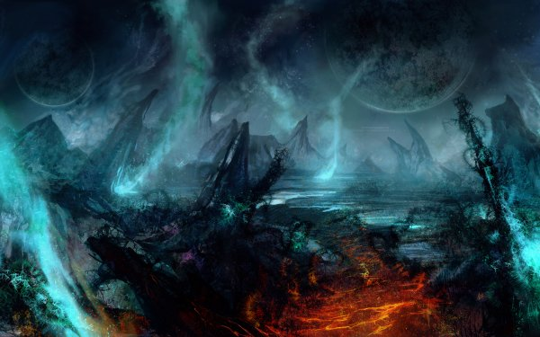 Sci Fi Landscape Planet Dark HD Wallpaper   Background Image