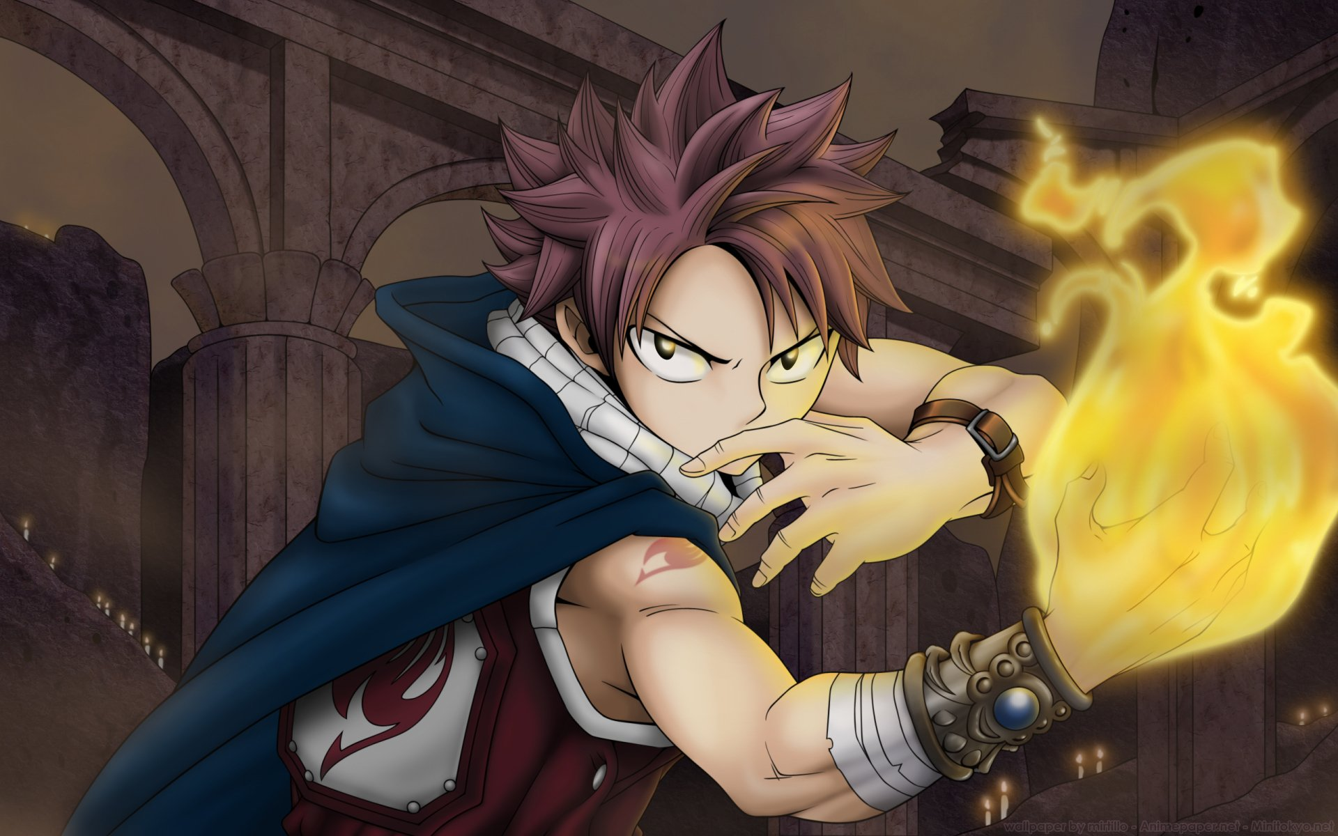 Anime - Fairy Tail  Magician Fire Natsu Dragneel Wallpaper