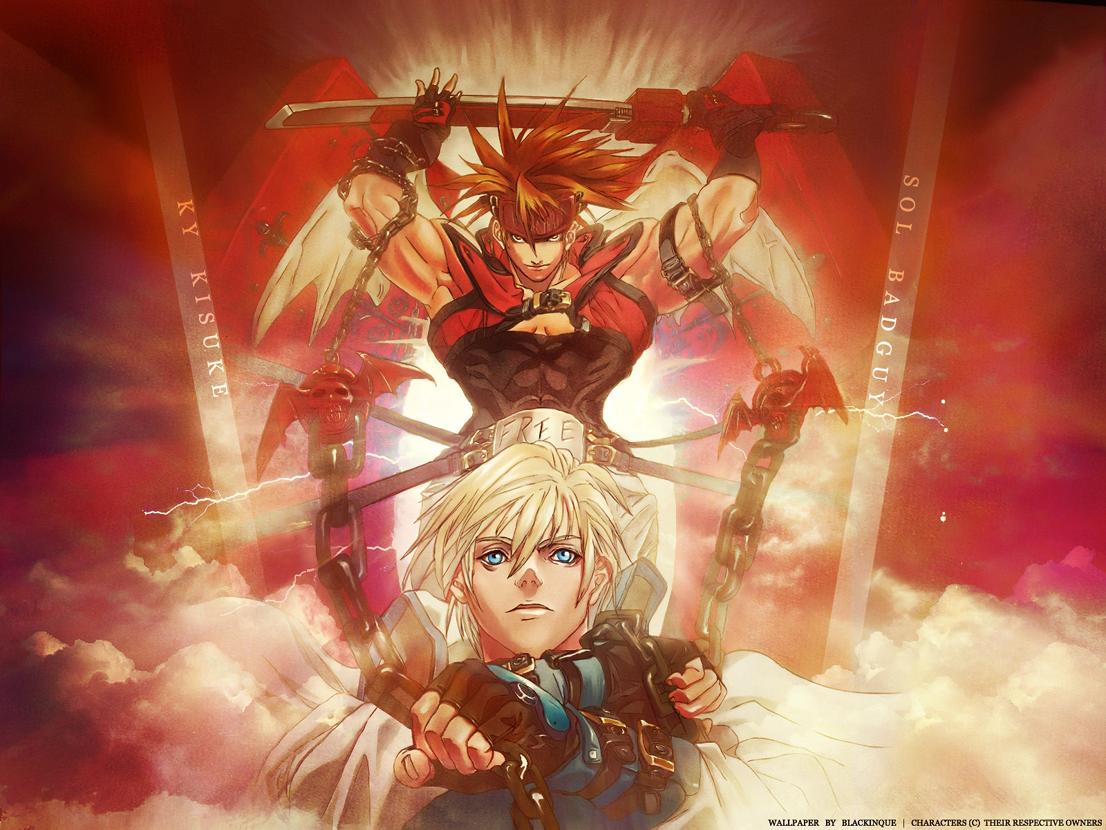 Anime - Cool  - Guilty Gear Sol And Ky Wallpaper