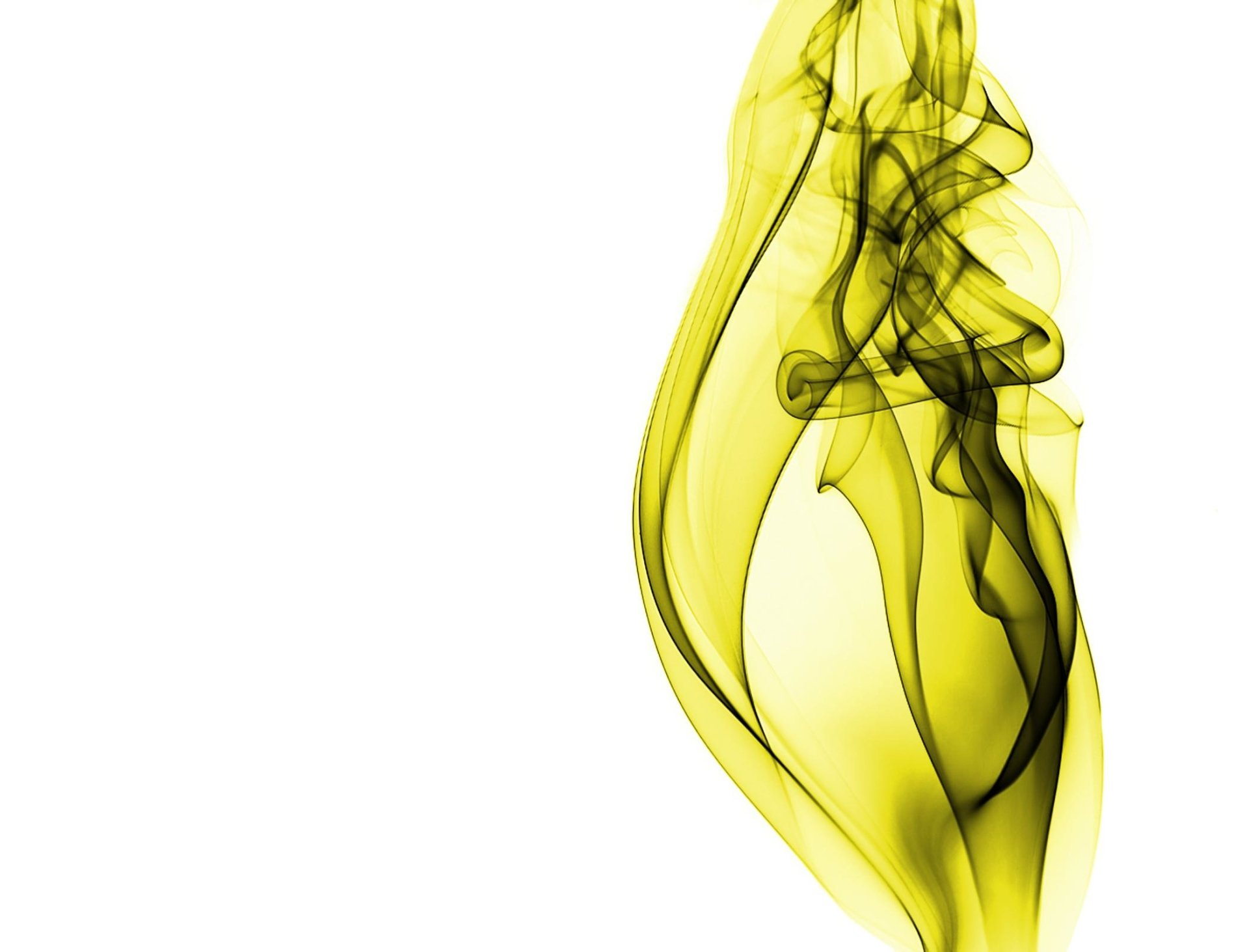 Abstract - White  Pattern CGI Yellow Smoke Artistic Wallpaper