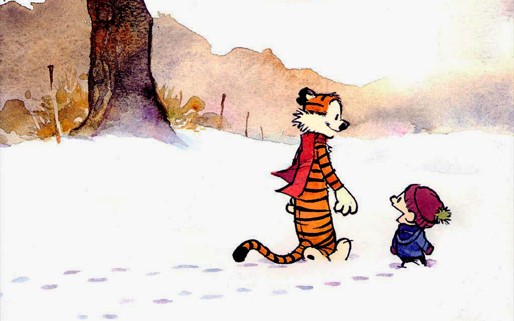 Cartoni - Calvin And Hobbes Sfondi