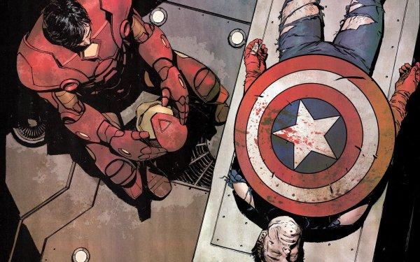 Comics Los Vengadores Iron Man Capitan América Fondo de pantalla HD | Fondo de Escritorio