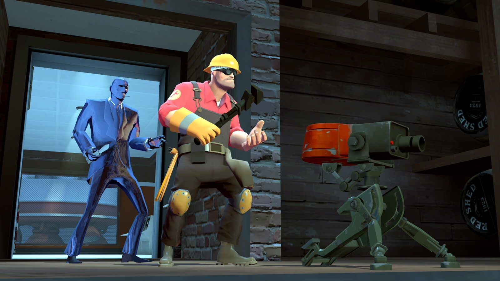 Computerspiel - Team Fortress 2  - Sentry - Spy - Engineer Hintergrundbild