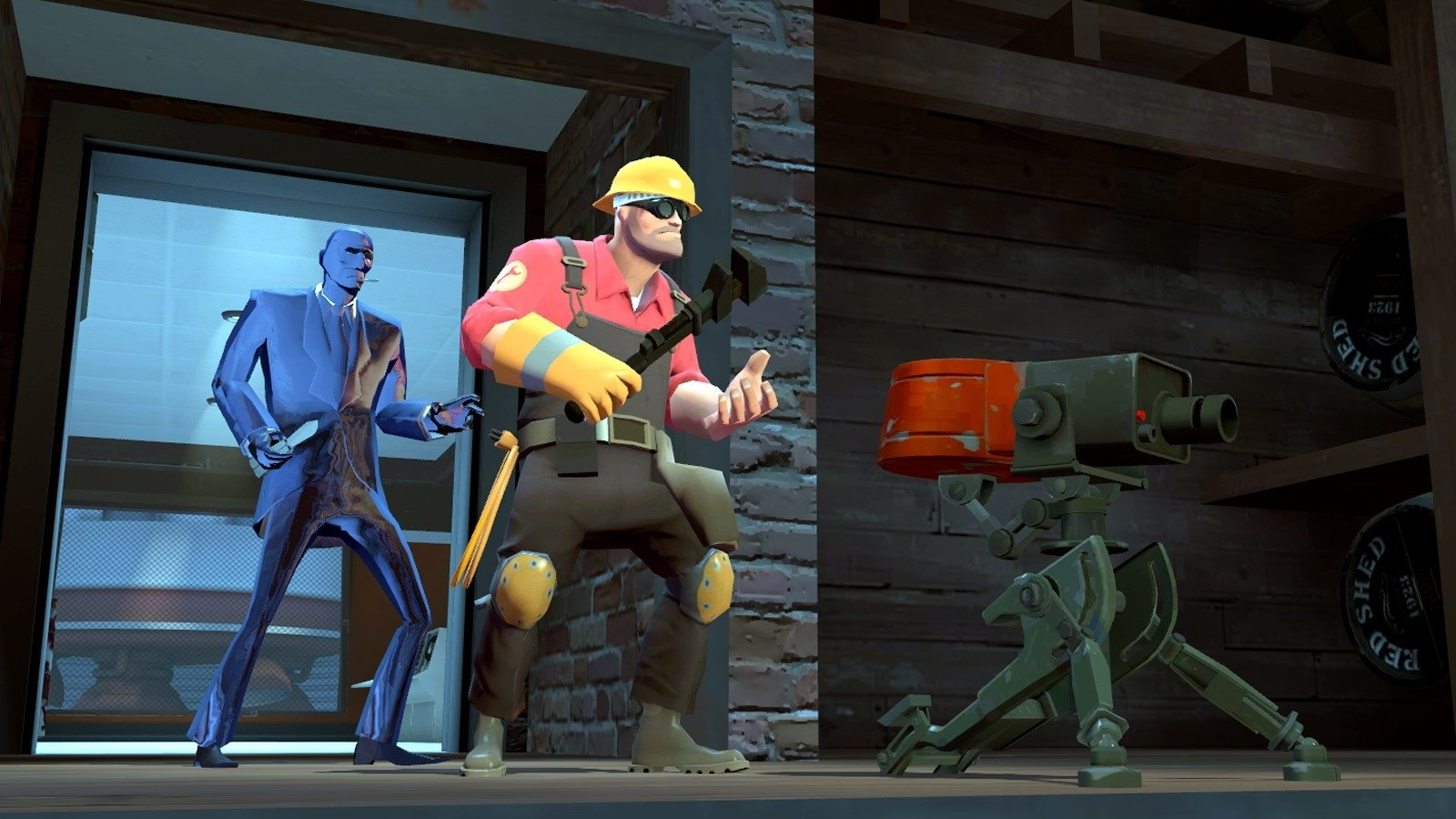 Computerspiele - Team Fortress 2  Spy (Team Fortress) Engineer (Team Fortress) Wallpaper