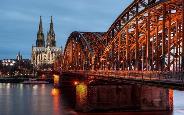 Man Made Bridge Bridges Cologne Germany Hohenzollern Bridge HD Wallpaper   Background Image