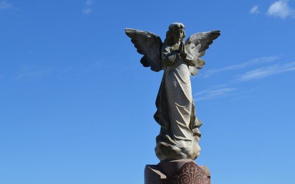 Man Made Angel Statue Statue Angel Cemetery Religious Sky HD Wallpaper | Background Image