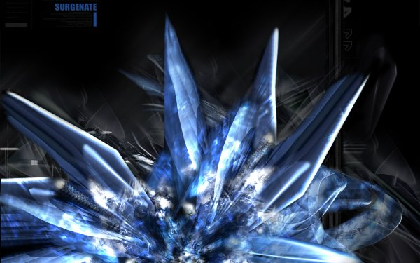 Abstract Blue Shapes Technology Crystal HD Wallpaper | Background Image
