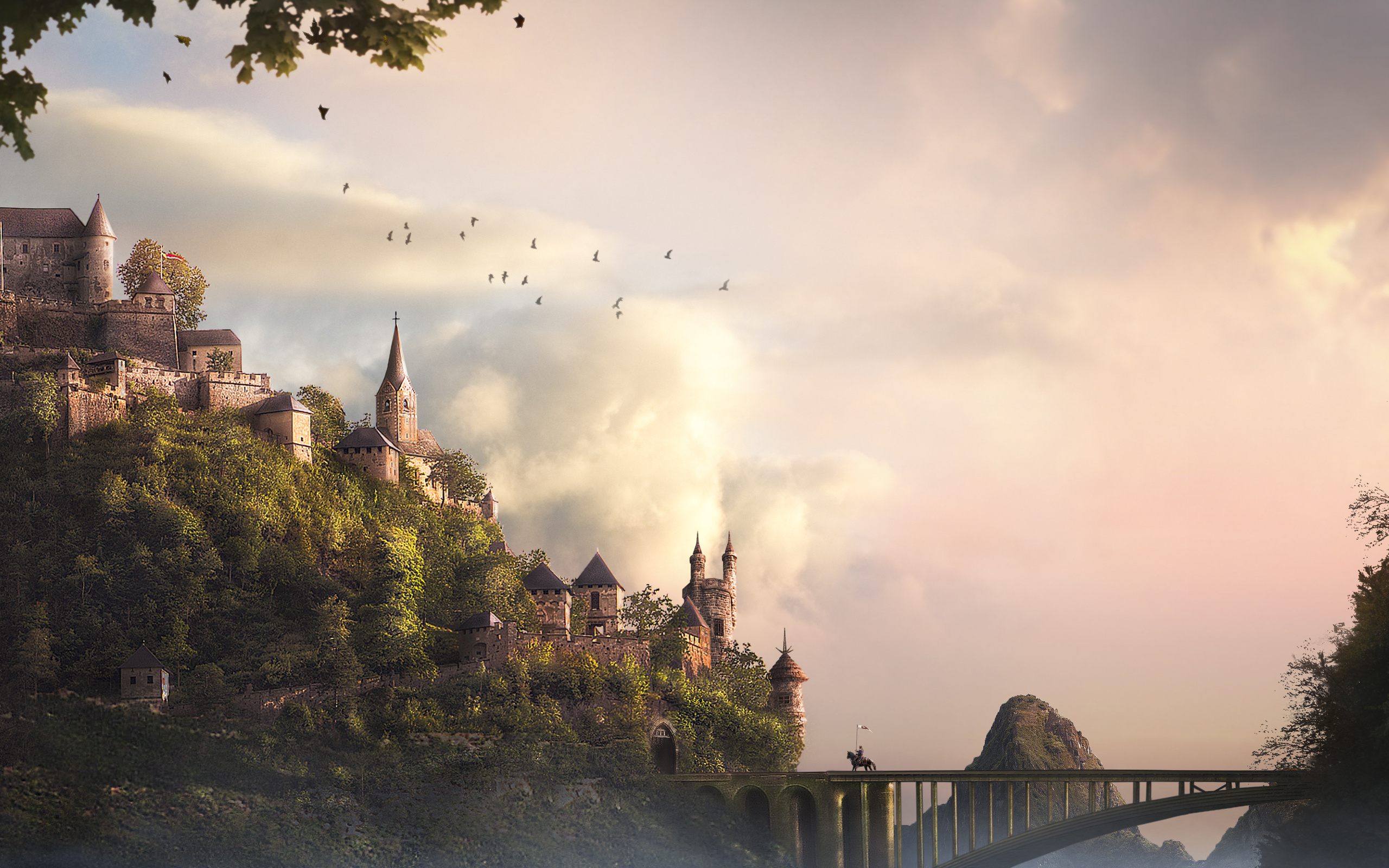 Fantasy castle bridge wallpaper 1085230 - Fantasy wallpaper bridge ...