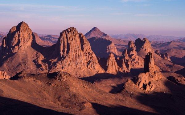 Earth Desert Assekrem Rock Landscape HD Wallpaper   Background Image