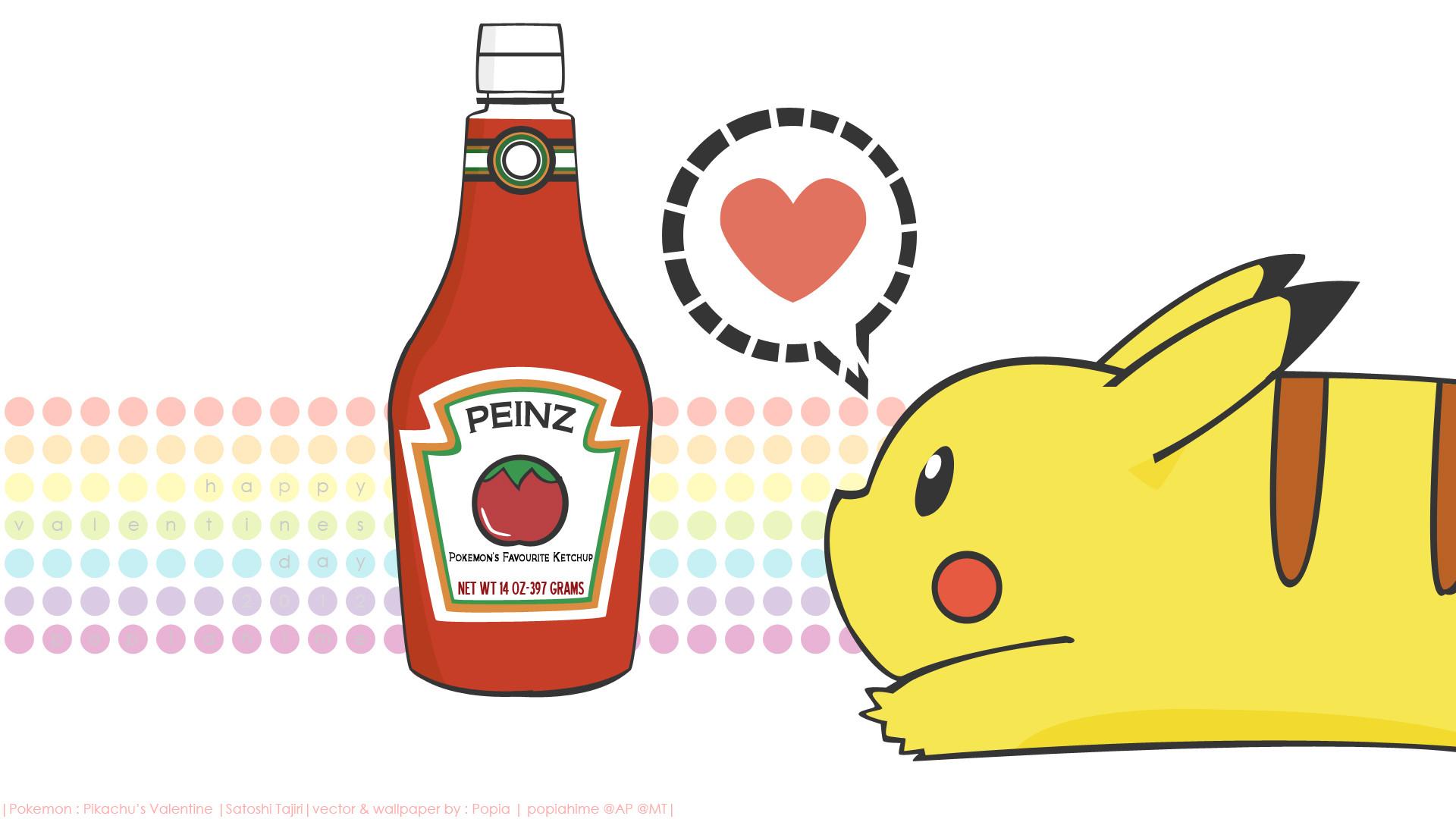 Pikachu LOVES KETCHUP Fond D'écran HD