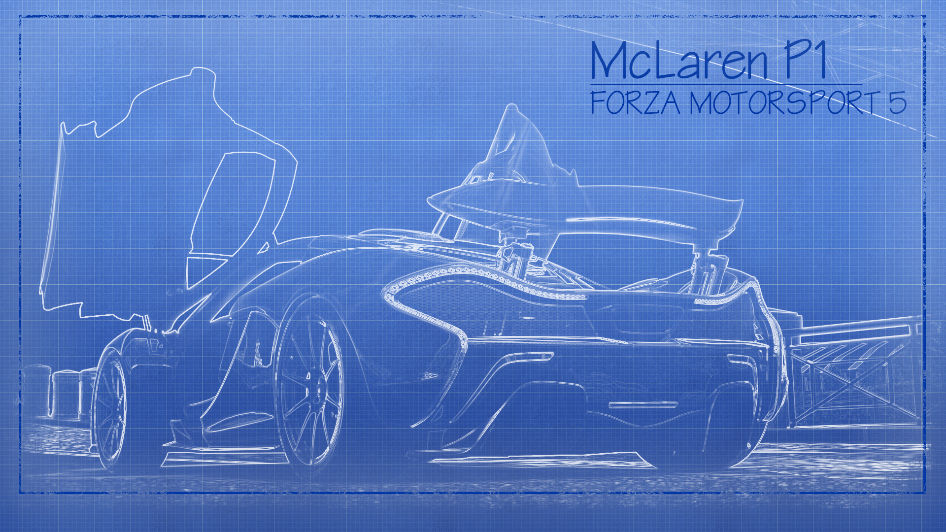 McLaren P1 in Blueprints Computer Wallpapers, Desktop Backgrounds