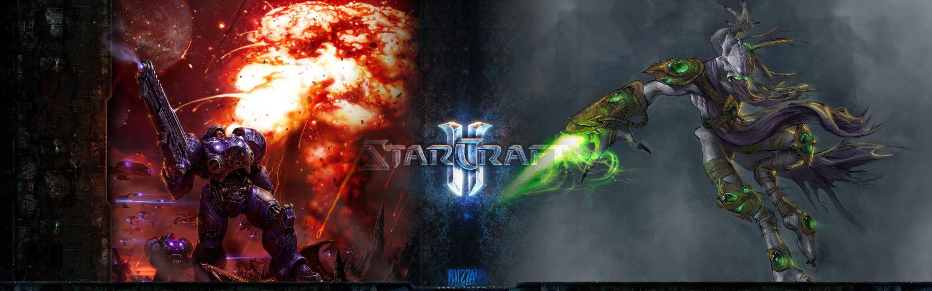 Multi Monitor - Videospiel  Starcraft II Wallpaper
