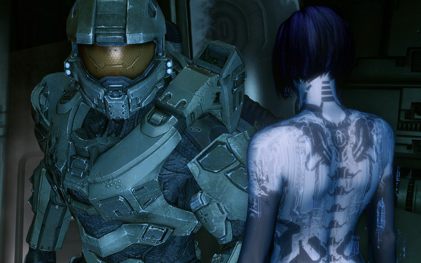 Master chief and cortana computer wallpapers desktop backgrounds