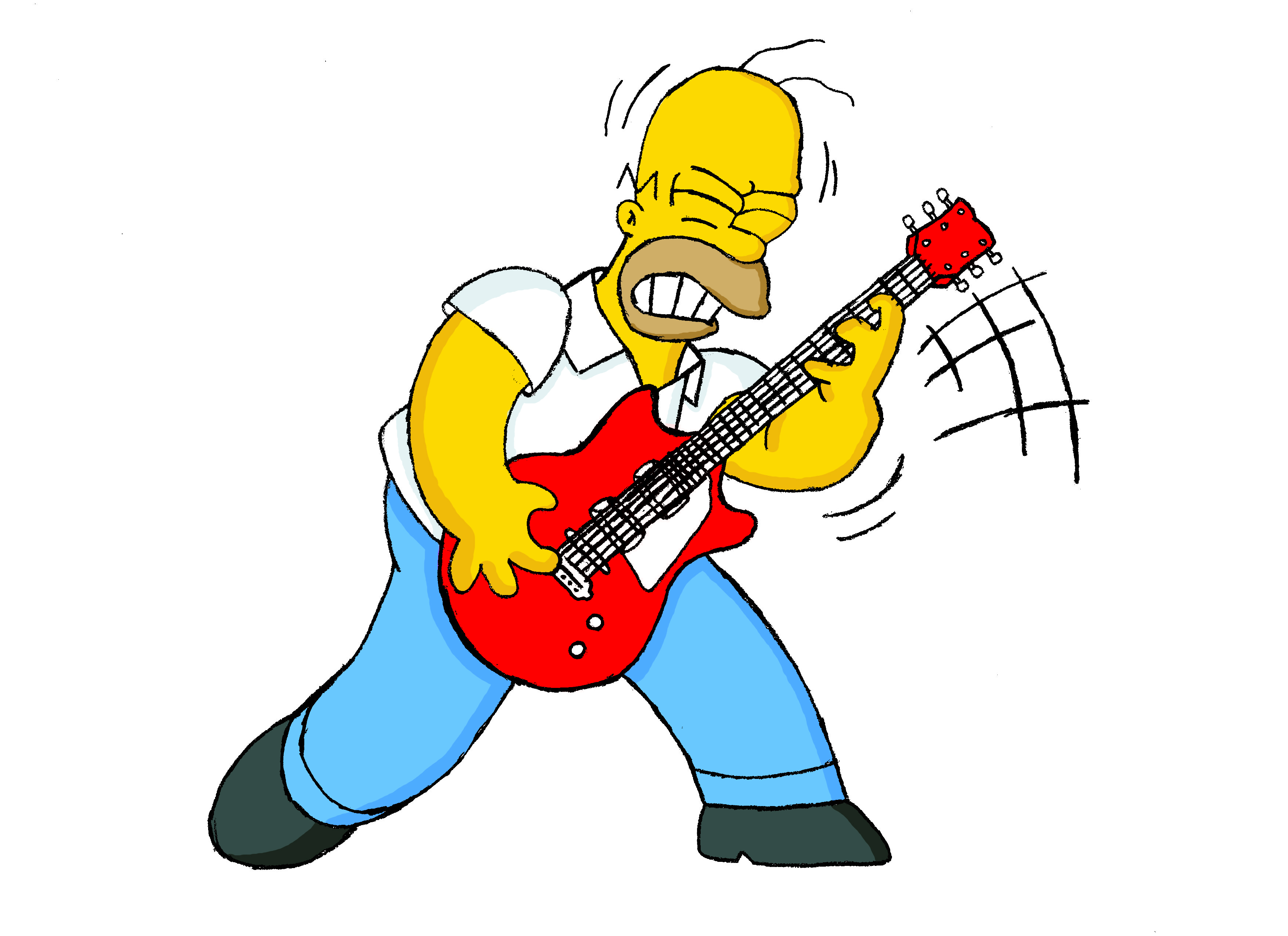 The simpsons hd wallpaper background image 3509x2550 id 457073 wallpaper abyss - Guitare simpson ...