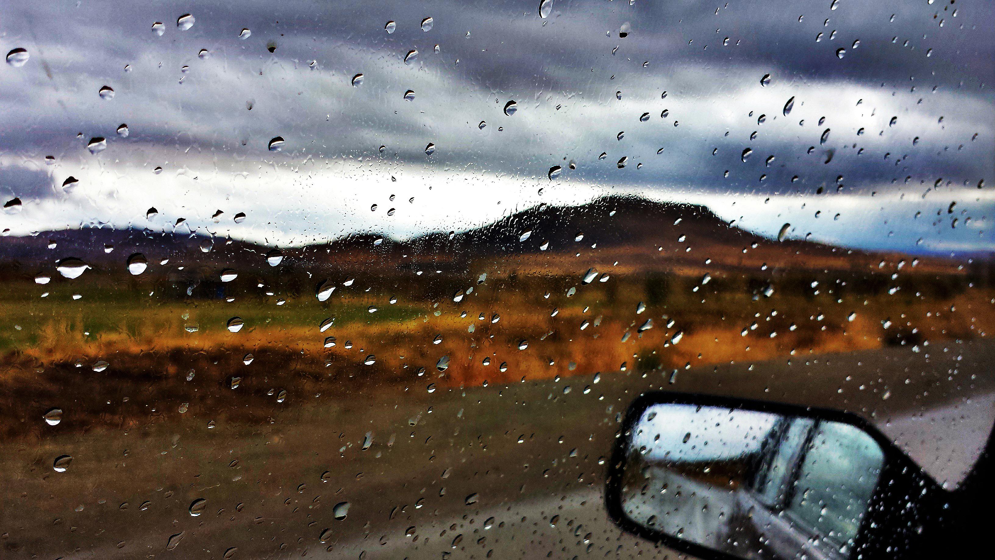 Autumn Rain Full Hd Wallpaper And Background 3264x1836