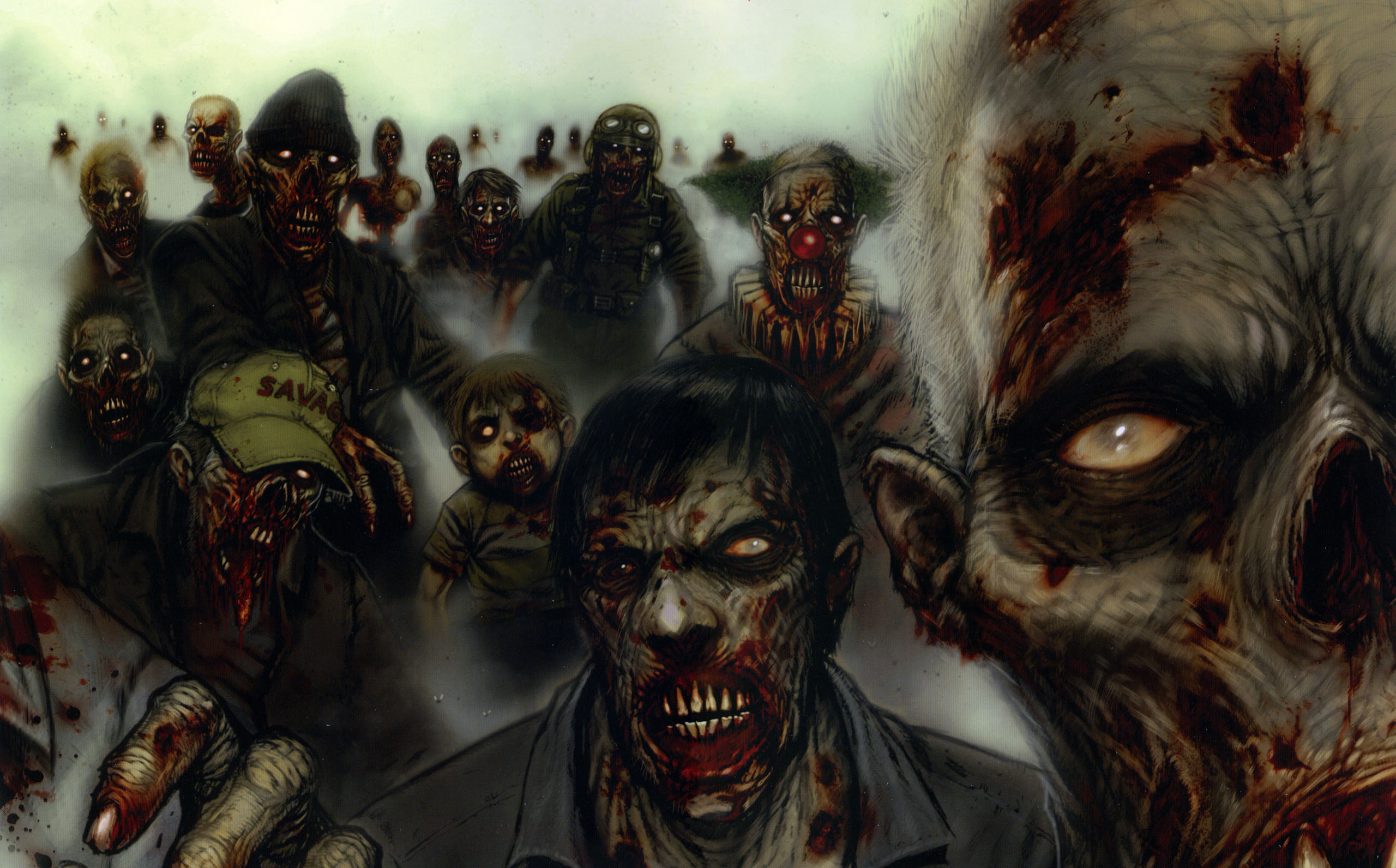 446 Zombie Hd Wallpapers Background Images Wallpaper Abyss