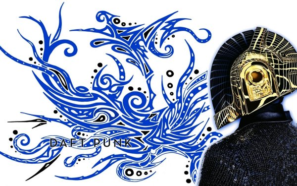 Music Daft Punk Band (Music) France French DJ Robot Drawing Shapes Curvy Tattoo Tribal HD Wallpaper | Background Image