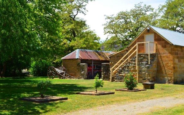 Man Made Eskbank House Building Lithgow Cart Garden HD Wallpaper | Background Image