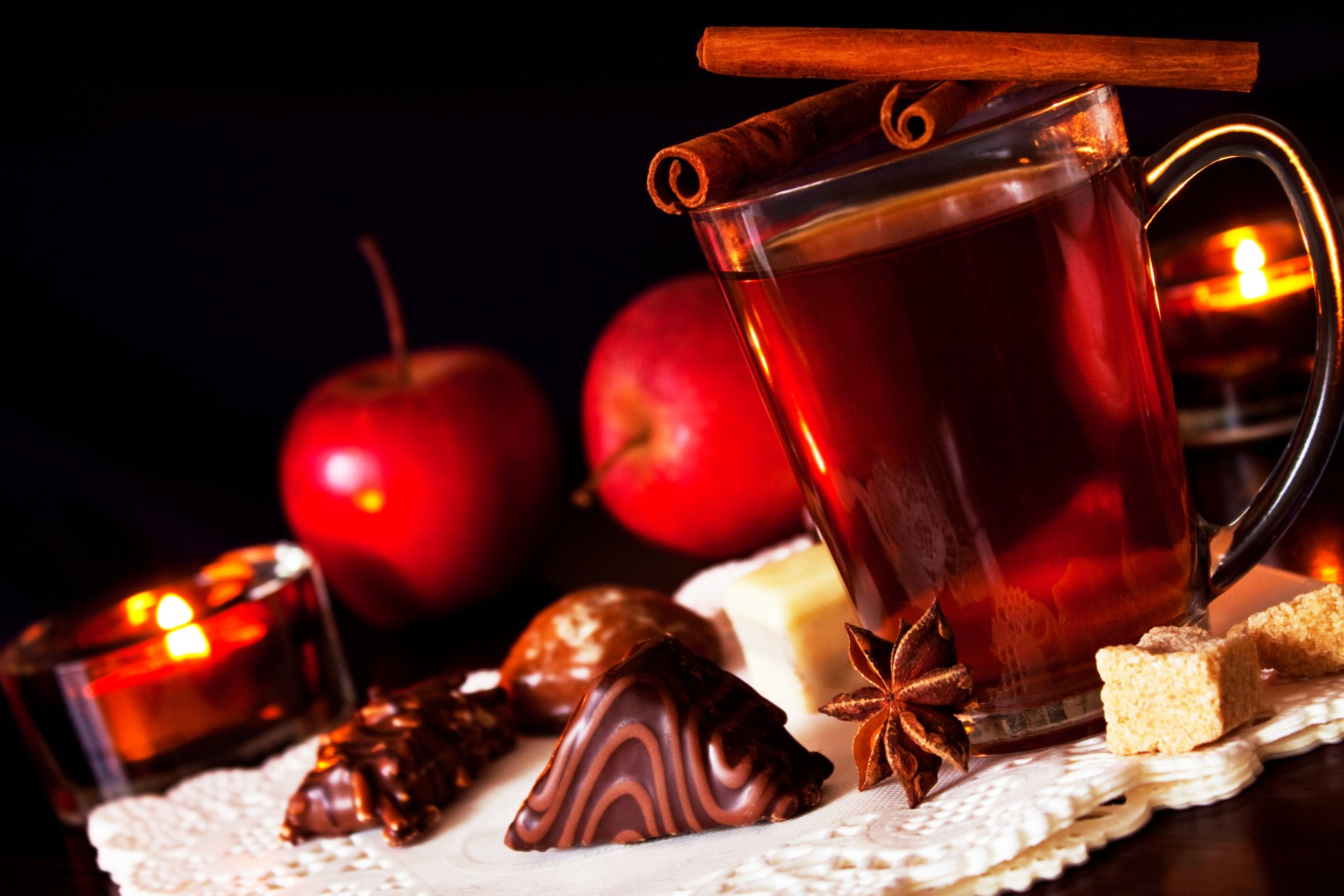 Food - Spiced Cider  Christmas Cinnamon Apple Candle Wallpaper