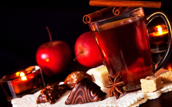 Food Spiced Cider Cinnamon Apple Candle Christmas HD Wallpaper | Background Image