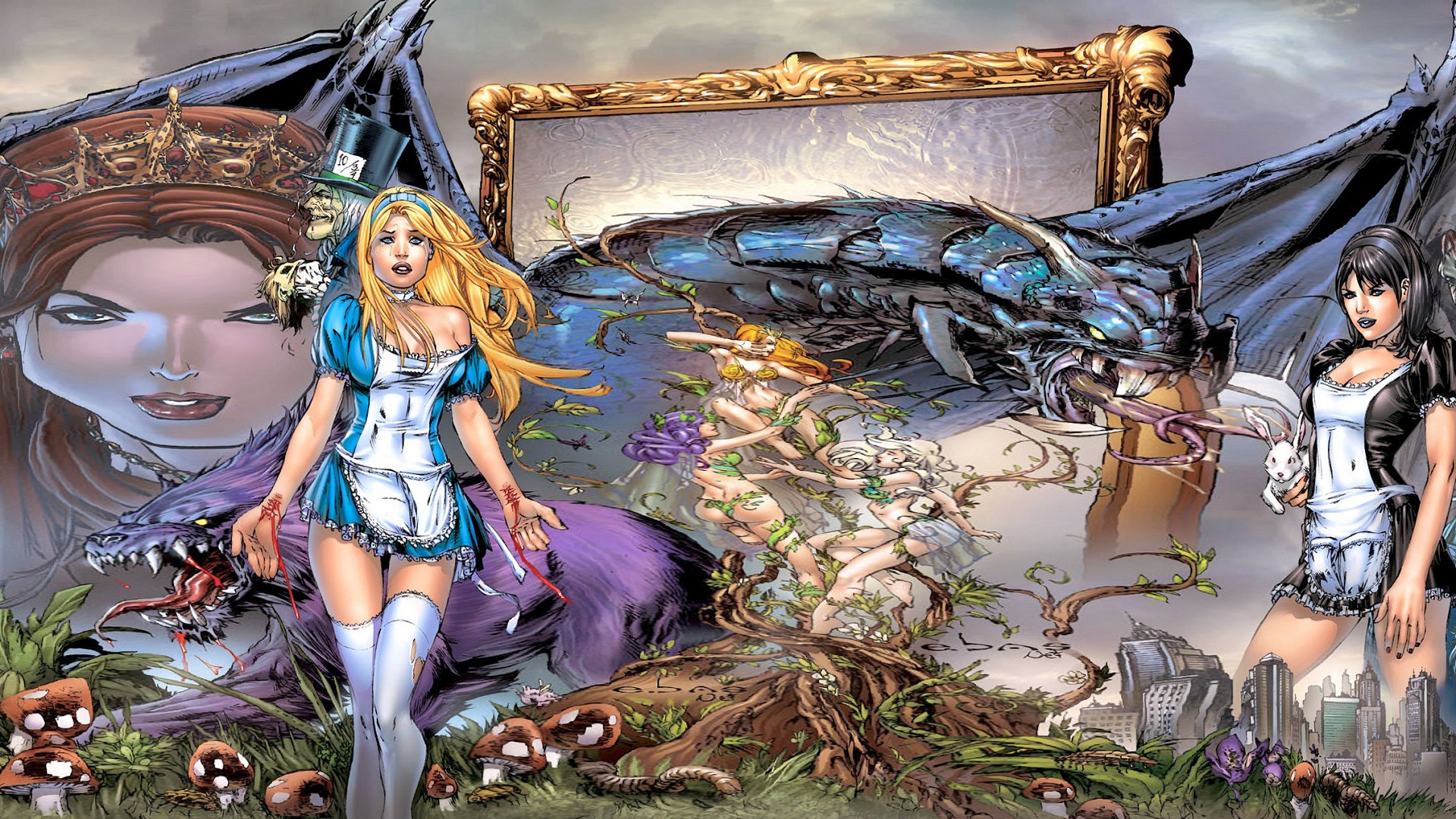 female grimm fairy tales wallpaper - photo #37