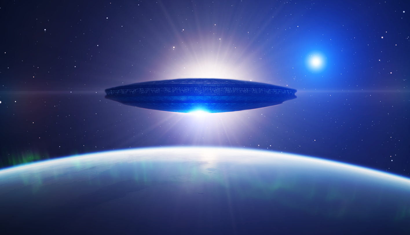 Ufo Over Earth Wallpaper And Background Image