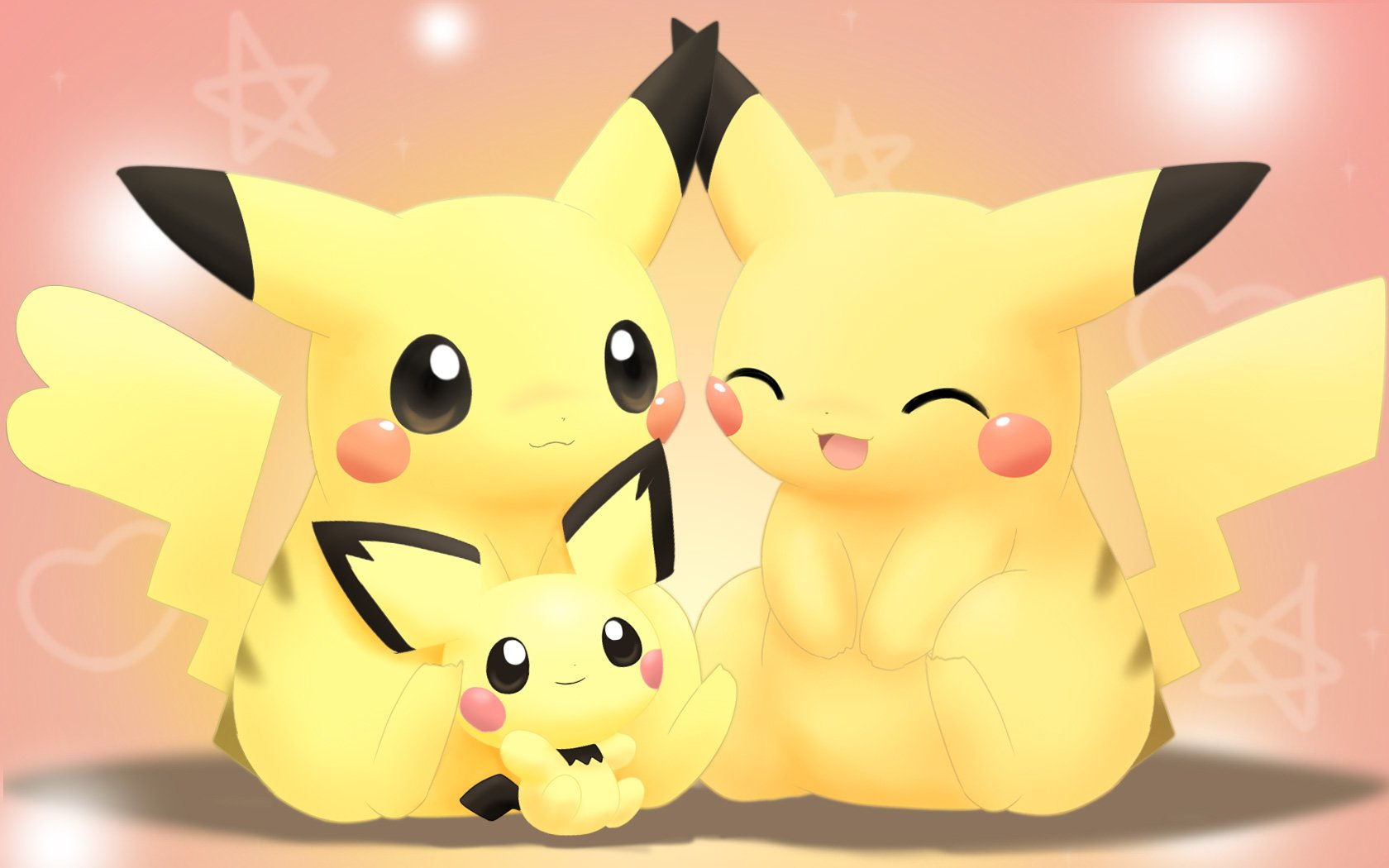 Video Game - Pokémon  Pikachu Pichu (Pokémon) Cute Smile Wallpaper