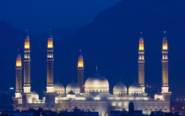 Religious Al Saleh Mosque Mosques Mosque Building Sana'a Yemen HD Wallpaper | Background Image