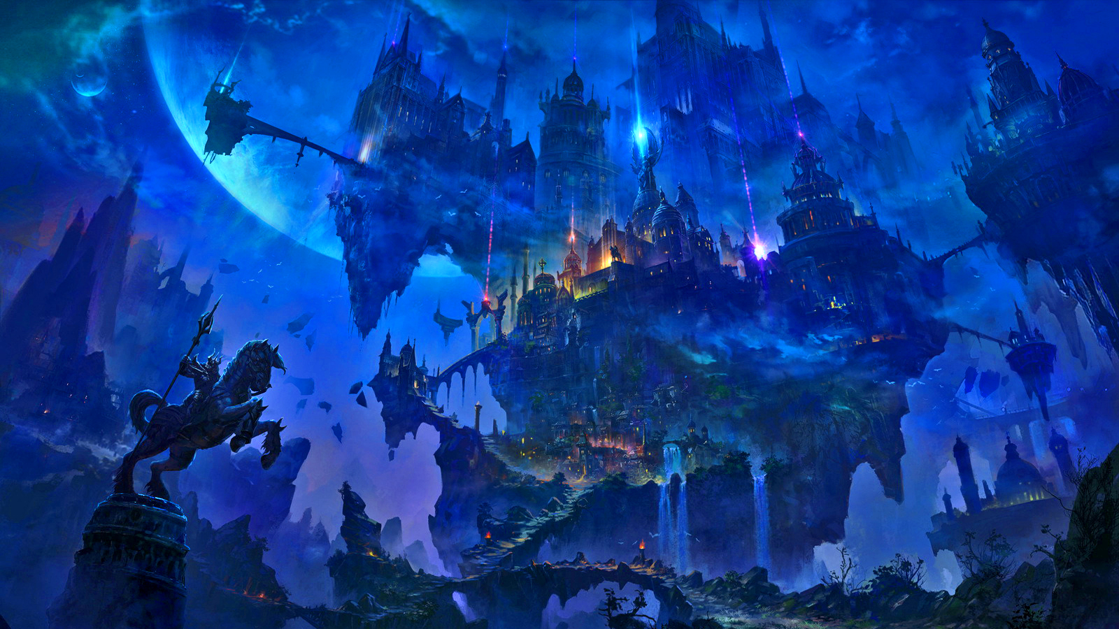 Fantasy City Wallpaper Hd: Aurora Temple Wallpaper And Background Image