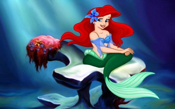 Películas La Sirenita (1989) La Sirenita Sirena Ariel Red Hair Fondo de pantalla HD   Fondo de Escritorio