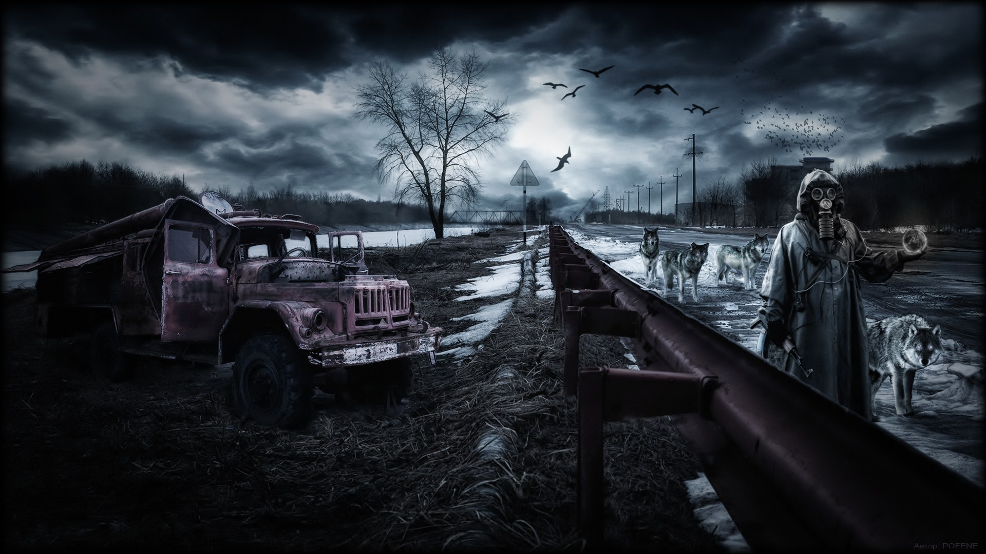 Apocalyptic dark full hd wallpaper and background for Fond ecran sombre